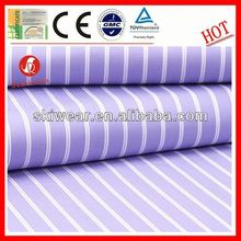 various breathable wicking green and white stripe fabric