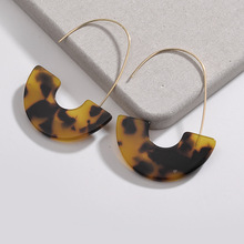Best Selling Acrylic geometric shaped tortoise shell cellulose acetate earrings jewelry