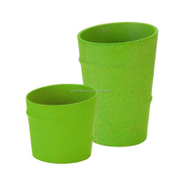 green bamboo fiber eco friendly BIO dinnerware bowls, cups, drinking cups for elderly
