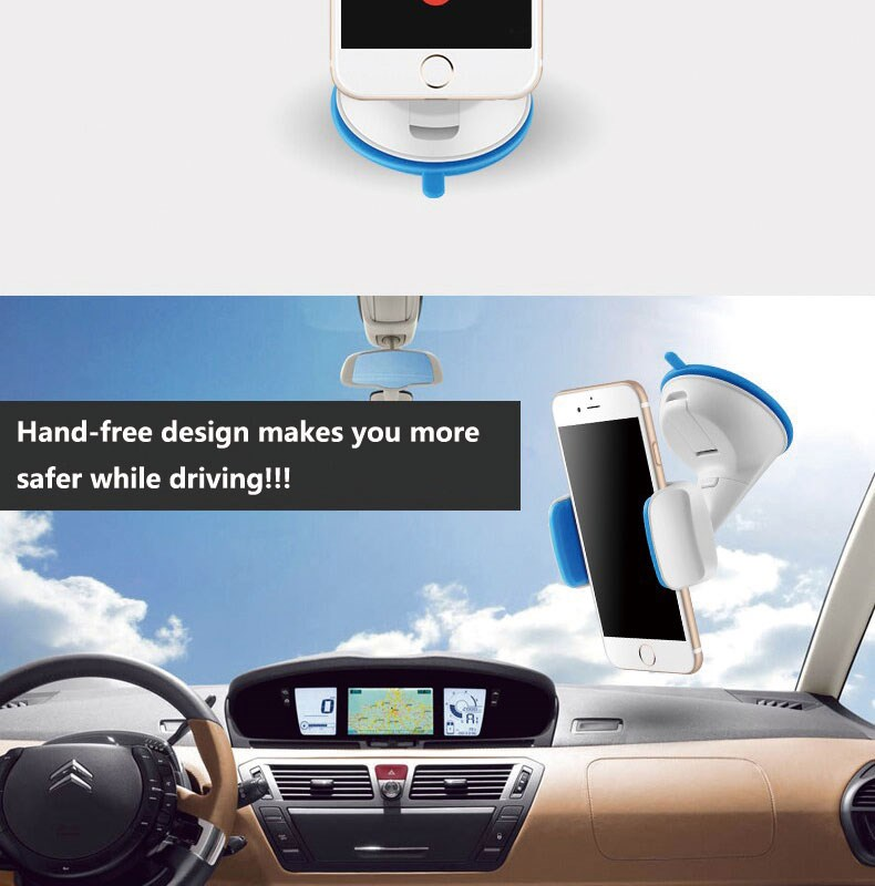 Zilu Car Phone Mount, Cell Phone Holder for Dashboard and Windshield,Car Accessories sticky clip holder