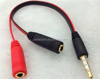 3.5mm audio stereo Y splitter cable 3.5mm male to 2port 3.5mm female for earphone and headset splitter adapter compatib