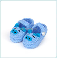 Baby Newborn Infant Girls Crochet Knit Socks Crib Shoes Prewalker 0-12Months