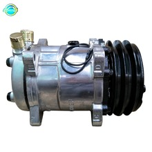 With black 2PK Clutch 132MM Sanden508 SD5H14 R134A 12V Universal AC Compressor