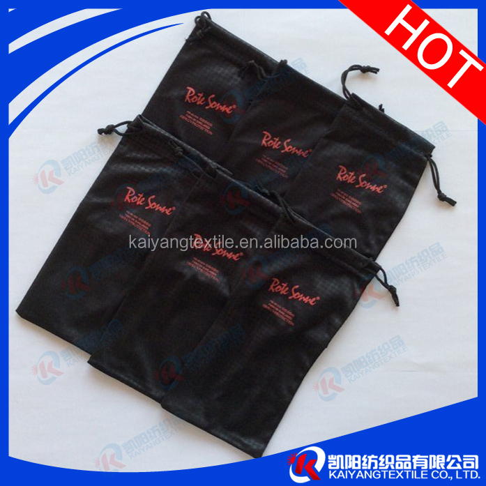 20% polyamide 80% polyester Mircrofiber pouch with silk screen printing