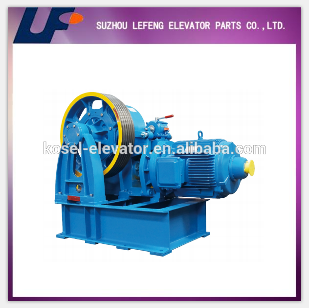 Suzhou Lefeng 131-2824 Lift Gearless Traction Machine/Elevator Motor with High Capacity