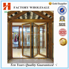 Latest aluminium powder coated exterior folding screen door for home