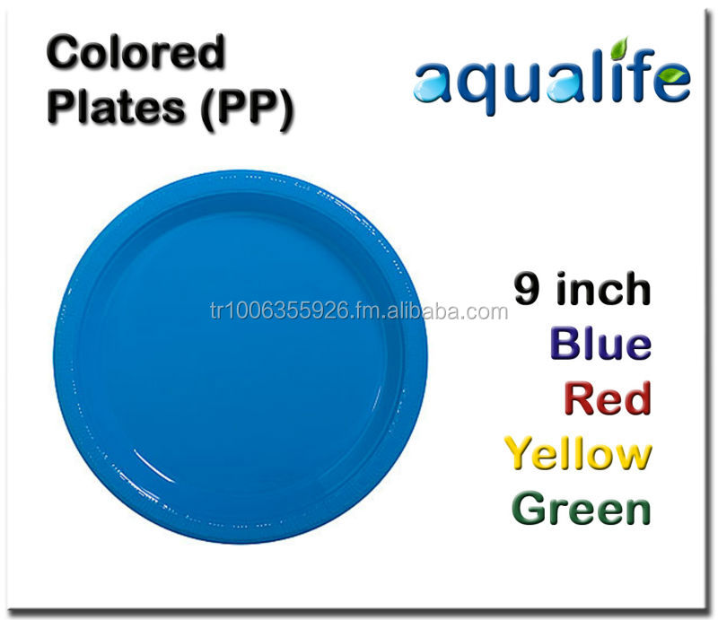 Colored Plastic Plates (PP)