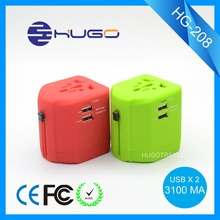 Hugotravel promoting Plug Adapter with Dual usb UK World Travel Power Charger Adaptor