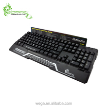 Rainbow LED Light Anti Ghost Fake Mechanical Gaming Keyboard