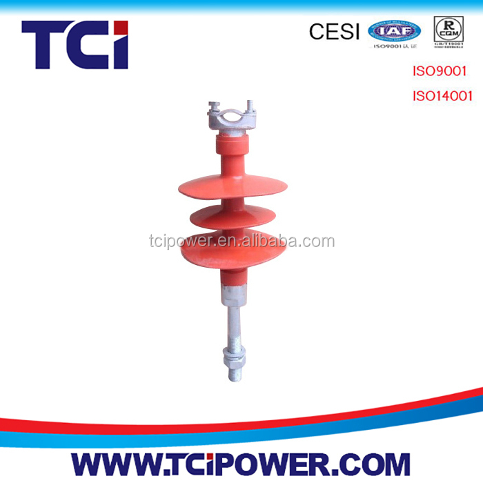 FPQ type high voltage polymer composite Pin type Insulator for power