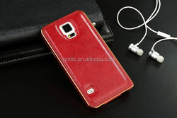 Aluminium Frame Bumper Genuine Leather Mobile Phone Case for Samsung galaxy note 3