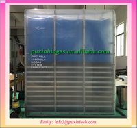 Low cost plastic sewage water treatment system