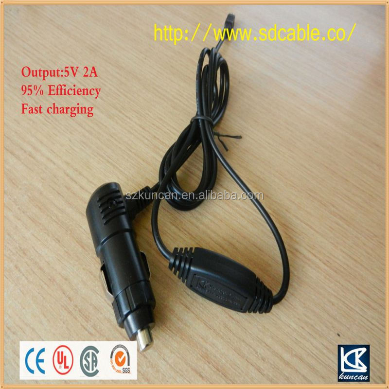 car Usb adapter car cigarette lighter led light DC power plug