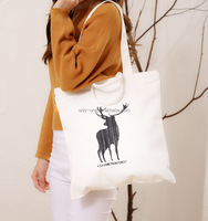 Market Size Handled Style Canvas Material Tote Bag
