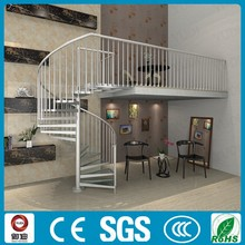 prefabricated indoor aluminum glass spiral stair design