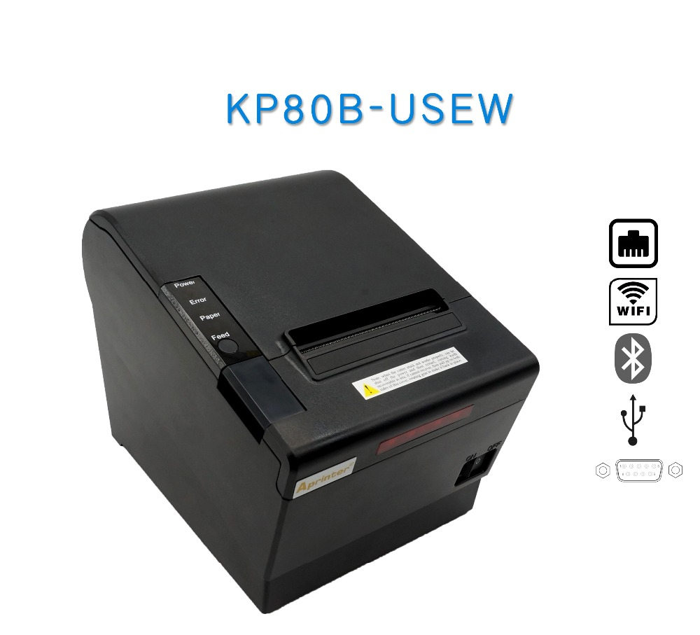 80mm pos machine thermal receipt WIFI printer support android&ios and USB