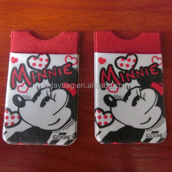 cartoon print phone card holder