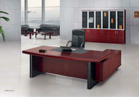 Red Sun new all good quality factory direct OEM custom made green material Veneer executive desk manager table office furniture