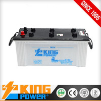 Cheap Dry charged car battery N150 made in china manufacturer 12V150AH battery