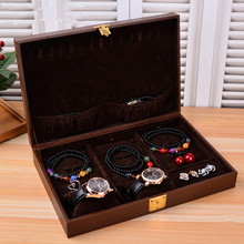 Large capacity jewelery box organizer multifunction wooden jewelry box and warch