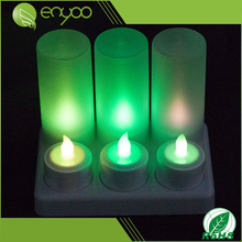 6 pcs/set Rechargeable Colorful Electric LED Tea Light Candles