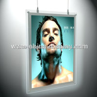 Professional Light Box Manufacturer Transparent acrylic illuminated Advertising durable Backlit LED sign board samples