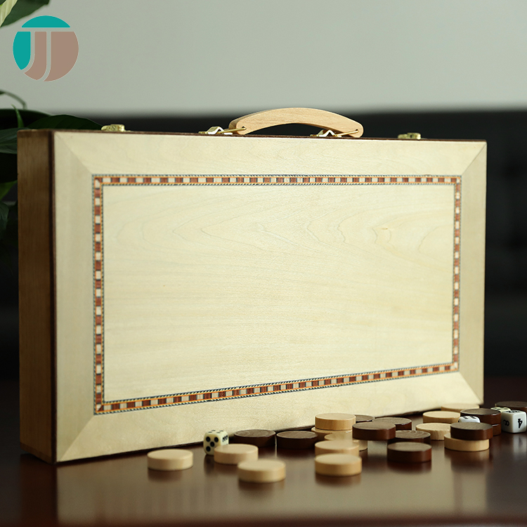 J.J. Crafts handcrafted portable wooden backgammon game