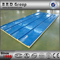 roof insulation sandwich board, polyurethane foam and colored steel