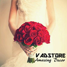 Customerzied artificial Red Rose wedding bouquet orquídea artificial <span class=keywords><strong>ramo</strong></span> <span class=keywords><strong>de</strong></span> novia decoración <span class=keywords><strong>de</strong></span> la boda <span class=keywords><strong>ramo</strong></span>