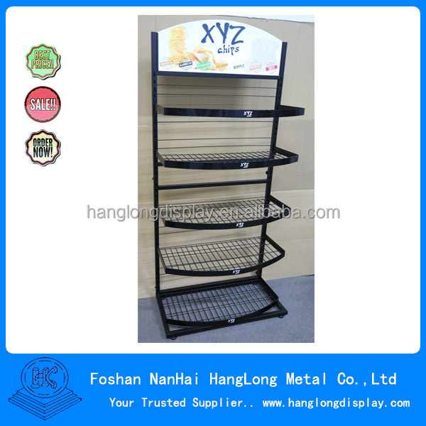 Metal display rack of potato chips HLS01