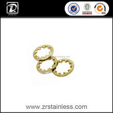 DIN6797 M3.7 Brass internal toothed lock washer