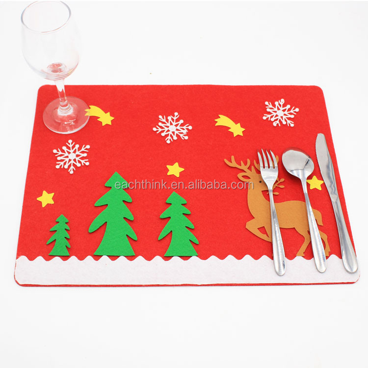 Christmas Holiday Santa Claus Table Placemat