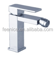 Hot Sale Brass Chromed Square design single lever lady bidet Faucets FNF120120