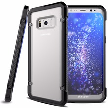 2017 Factory Hot Selling Hybrid Frosted Clear Case for Samsung Galaxy S8 Plus Case