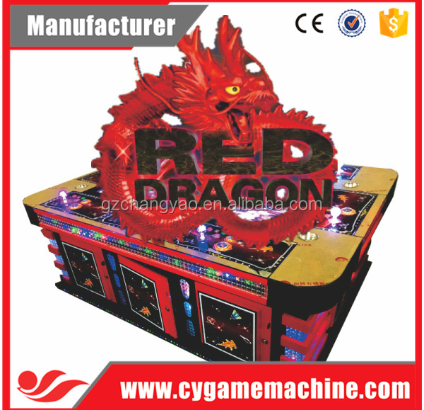 Popular Red Dragon Arcade Shooting Fish 3D Game Supplier