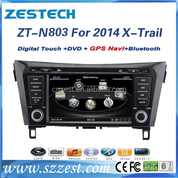 car radio navigation system for Nissan X-trail Rogue 2014 2015 car navigation system support DVR DTV GPS Bluetooth USB