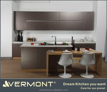 Lacquer New Euro style kitchen cabinets with decorating ideas(VT-PK-004)