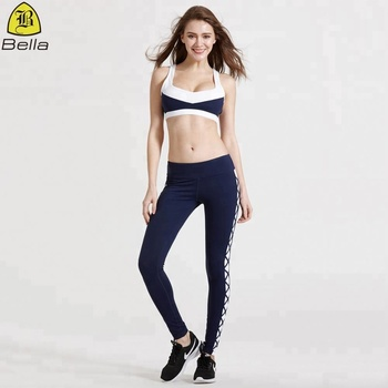 Sexy slim fit women exercise yoga wear sport clothing set