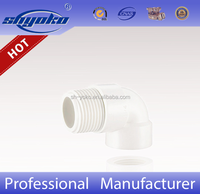 Manufacturer Good quality PVC BSPT THREAD PIPE FITTINGS, PVC Male & Female Elbow PLASTIC PIPE FITTINGS