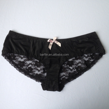 Hot Sales Black Color Fat Women Lace Underwear For Promotiom