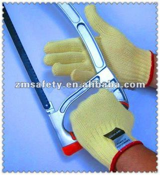 Yellow Aramid Fiber Cutting Safety Gloves