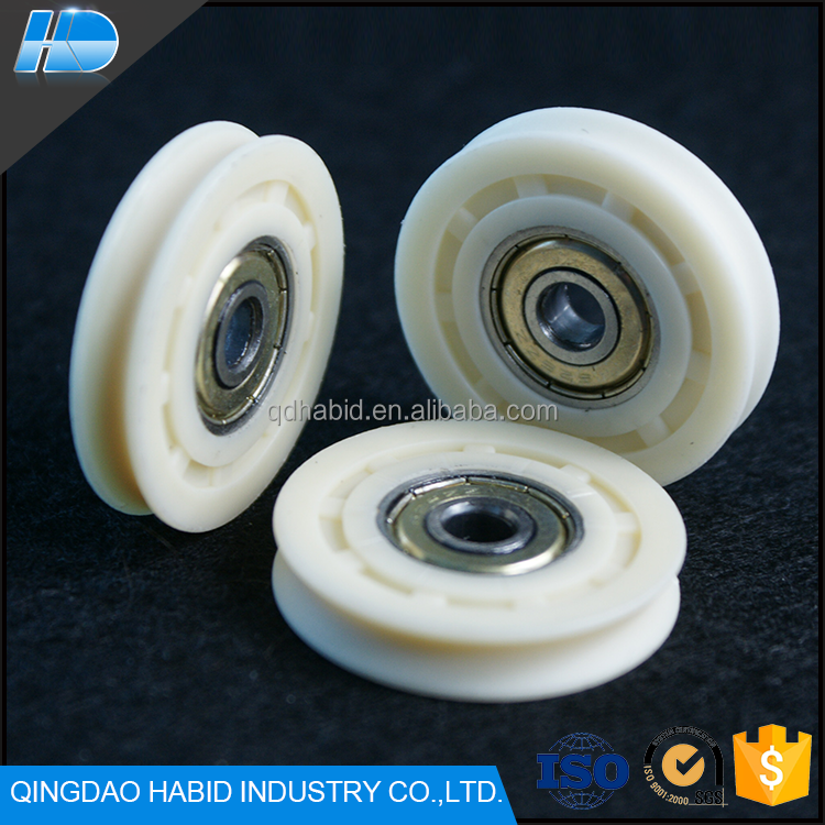 Wholesale Cheap Injected Plastic Nylon V Groove Guide Rollers Wheels Hot Sale Professional Sliding Door Rollers With Bearings