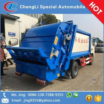 Multifunction 5 cbm compactor garbage truck garbage can cleaning truck sale in Benin