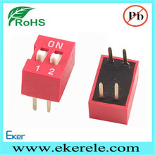 DIP Red 2.54mm Pitch 2 Positions Ways Slide Type Switch
