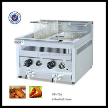Commercial Gas temperature-controlled fryer (2 - tank & 2 - basket) 14L/Tank