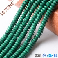 Wholesale Green Turquoise Rondelle Beads for jewelry making