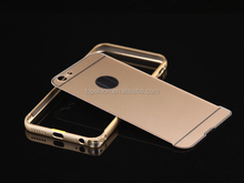 High quality metal aluminum bumper frame for iPhone 6 case pvc back cover casing