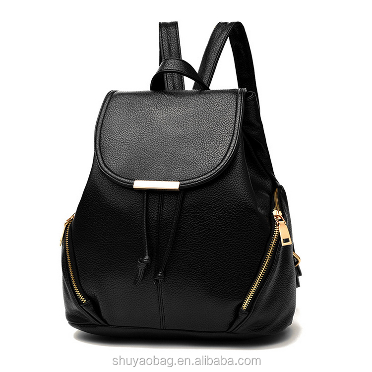 Wholesale lady travelling backpack bag fashion PU backpack for teenager.