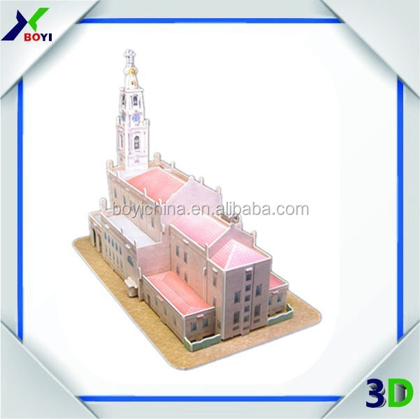 New fashion intelligent DIY model toy/custom EPS 3d puzzle for kids