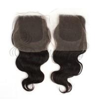 Body Wave 100% Peruvian Virgin Hair Lace Closure Glue